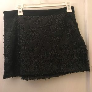 American Rag Black Sequin Mini Skirt
